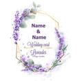 wedding card lavender wreath watercolor delicate vector image vector image
