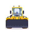 wheel loader front view flat style vector image