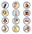 zodiac in cartoon style vector image vector image