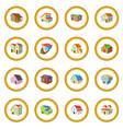 houses cartoon icon circle vector image