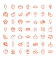 49 tasty icons vector image vector image