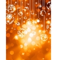 Abstract christmas with snowflake EPS 10 vector image