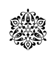 abstract circle floral ornamental decor vector image vector image