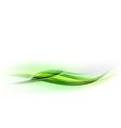 abstract shape green wave vector image vector image