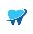 abstract tooth arrow logo image vector image