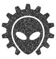 Alien Technology Grainy Texture Icon vector image vector image