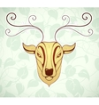 Artistic deer cartoon design vector image