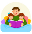 bedtime story with dad vector image