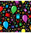 birthday multicolor pattern vector image vector image