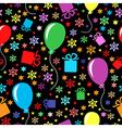 birthday multicolor pattern vector image