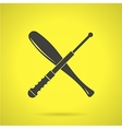 Black crossed baton flat icon vector image