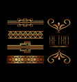borders ornate gold decoration vector image