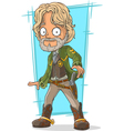 cartoon sheriff in cool boots vector image vector image