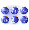 christmas blue balloon vector image vector image