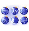 christmas blue balloon vector image