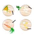 Corn Daikon Radish Carrots and Potatoes vector image vector image