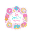 cute funny girl teenager colored sweet icon vector image vector image