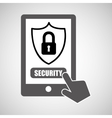 data protection smartphone padlock graphic vector image vector image
