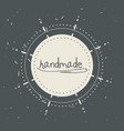 emblem decoration design with handmade message vector image vector image