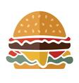 Flat hamburger icon vector image vector image