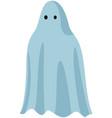 flying ghost in white sheet terrifying phantom vector image