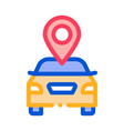 geolocation machines logo icon outline vector image vector image