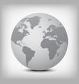 gray globe icon on light gray vector image vector image