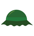 green hat on white background vector image vector image