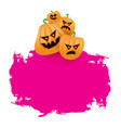 halloween web pink grunge banner or poster with vector image