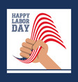 hand symbol to labor day celebration vector image