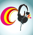 headphone design vector image