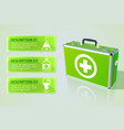 healthcare infographic concept vector image vector image