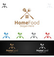 home food logo for restaurant or cafe vector image vector image