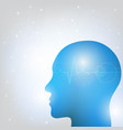 human head and brain vector image vector image
