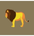 in flat style lion vector image vector image