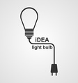 Light Bulb and plug concept vector image
