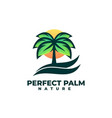 logo perfect palm simple mascot style vector image
