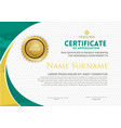 modern certificate template with polygonal flow vector image vector image