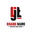 modern logo design letter ljt vector image vector image