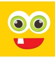 orange funny monster face vector image vector image