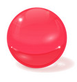 pink glass ball 3d sign with shadow vector image