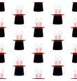 rabbit ears in magic hat pattern vector image vector image