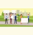 real estate promotional campaign flat vector image