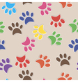 Seamless background with footprint of cat and dog vector image vector image