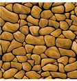 seamless brown stone background vector image vector image