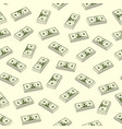 seamless dollar seamless vector image vector image