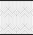 seamless linear geometric striped pattern vector image vector image