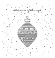 seasons greetings ethnic bauble card vector image vector image