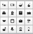 set of 16 editable restaurant icons includes vector image vector image