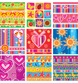 set of childrens cheerful sticker vector image